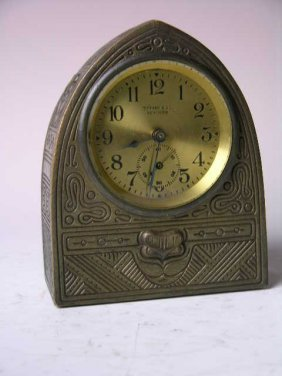 "Tiffany Studios ""indian"" Pattern Clock."