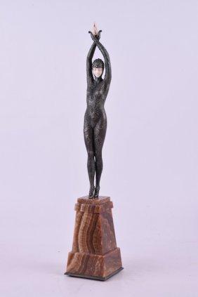 "Demetre Chiparus (romanian,1885-1947). ""starfish"""