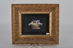 "Micro Mosaic Plaque Of ""doves Of Plinni"" Eating Out Of"