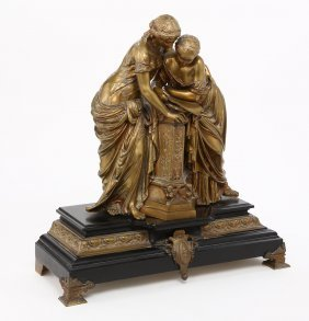 Mathurin Moreau, (french, 1822-1912). Bronze Figure Of