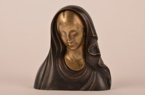 Hagenhauer Bronze Figure Of Madonna.