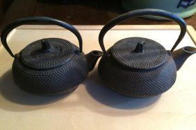 Pair Of Japanese Teapots