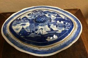 20th Century Blue Sauce Plate