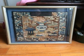 Chinese Antique Silk Embroidered Painting