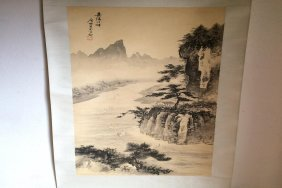 Old Chinese Painting Scroll