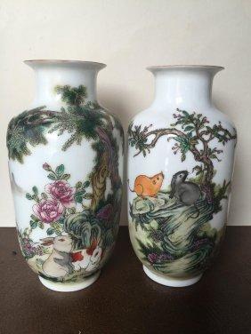 2 Porcelain Vase