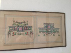 Qing Dynsty Painted House Plans