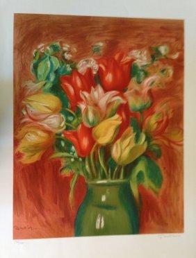 """Pierre Auguste Renoir """"Flower Vase"""""""