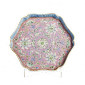 Cut Out Tray In Chinese Porcelain