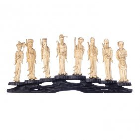 Eight Immortals In Chinese Ivory