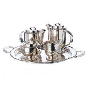 Art Deco Silver Tea And Coffee Set