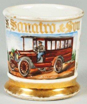 Antique Bus With Uniformed Driver Shaving Mug.