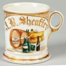 """1800 French Brandy"" Casks Shaving Mug."
