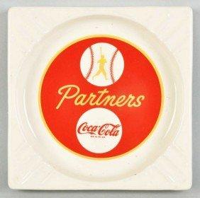 Ceramic Coca-Cola Partners Ashtray.