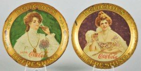 1903 & 1906 Coca-Cola Change Trays.