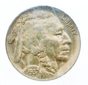 1937 D 3-Legs Buffalo Nickel NGC MS 62.