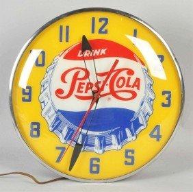 Pepsi-Cola Electric Light--Up Clock.