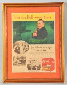 Full Page Coca-Cola Color Newspaper Ad.