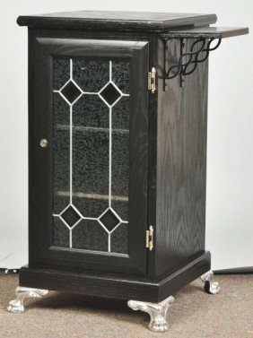 Oak Slot Machine Stand.