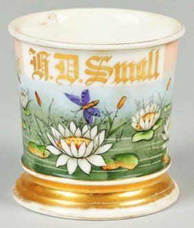 "Highly Decorative ""H.D. Small"" Name Shaving Mug."
