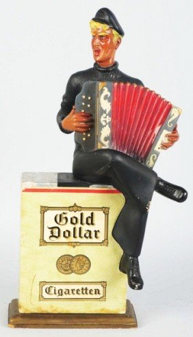 Gold Dollar Cigarettes Advertising Figure.