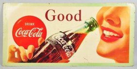Cardboard Coca-Cola Truck Poster.