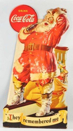 Cardboard Coca-Cola Santa Cutout.
