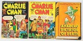 Lot Of 3: Anarcho & Charlie Chan Comic Books.