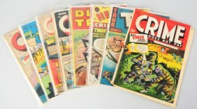 Lot Of 8: 1950s Crime Themes Comic Books.