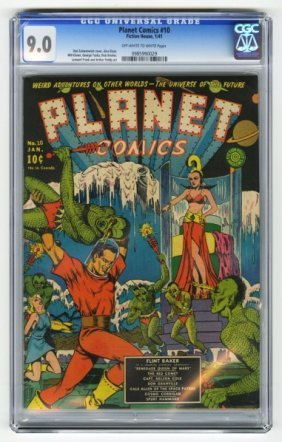 Planet Comics #10 CGC 9.0 Fiction House.