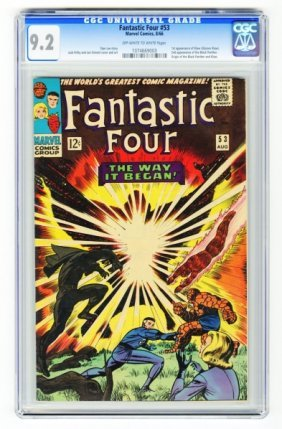 Fantastic Four #53 CGC 9.2 Marvel Comics 8/66.