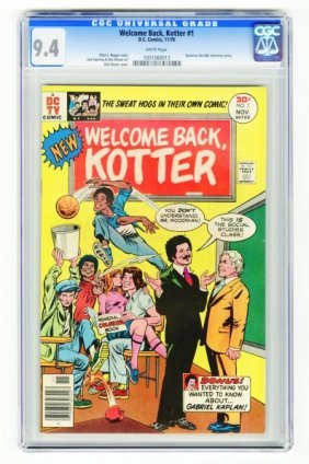 Welcome Back Kotter #1 CGC 9.4 D.C. Comics 11/76.