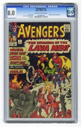 Avengers #5 CGC 8.0 Marvel Comics 5/64.