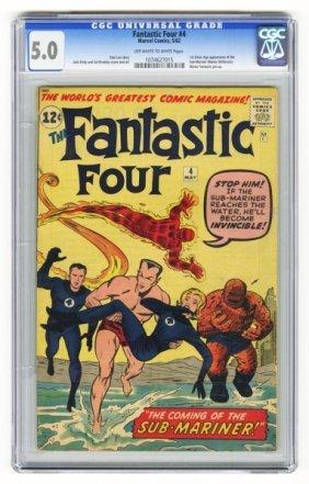 Fantastic Four #4 CGC 5.0 Marvel Comics 5/62.