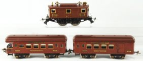 Ives Standard Gauge No. 3235 Passenger Train Set.