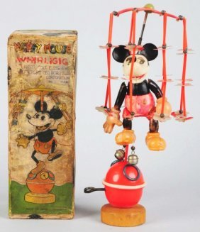 Celluloid Walt Disney Mickey Mouse Whirligig Toy.