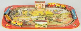 Tin Litho Marx Walt Disney Train Set.