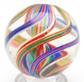 Single Ribbon Swirl Marble.