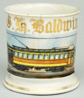 Train Trolley Shaving Mug.