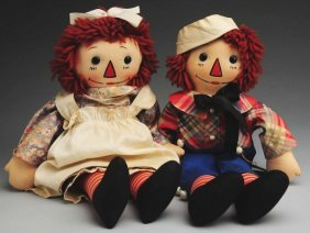 Pair Of �Raggedy Ann & Andy� Dolls.