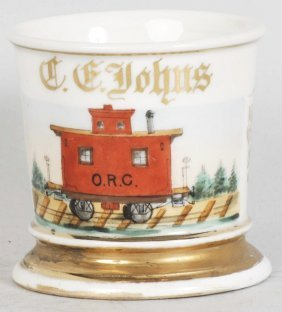 Trolley Car Shaving Mug.