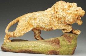 Amphora Ceramic Figural Lion.