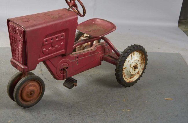 Murray Pedal Tractor Restoration : Pressed steel murray diesel tractor pedal car lot