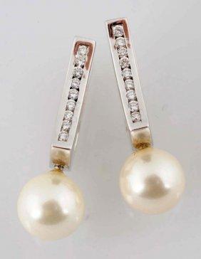 Diamond & Pearl Earrings.