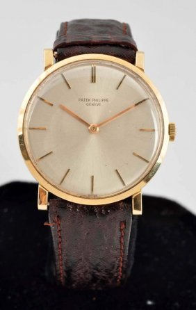 18k Patek Philippe Yellow Gold Watch.