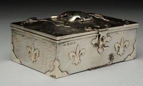 English Silver Arts And Crafts Box.