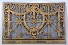 Ornate French Bronze Fire Screen.