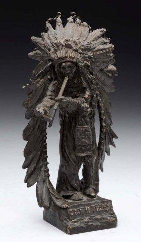 Native American Indian Bronze Figurine.