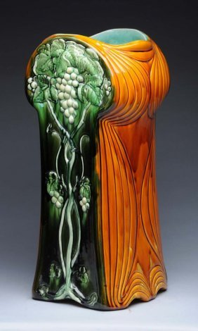 Majolica Umbrella Stand.
