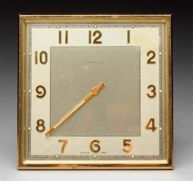 Tiffany Art Deco Bronze Desk Clock.